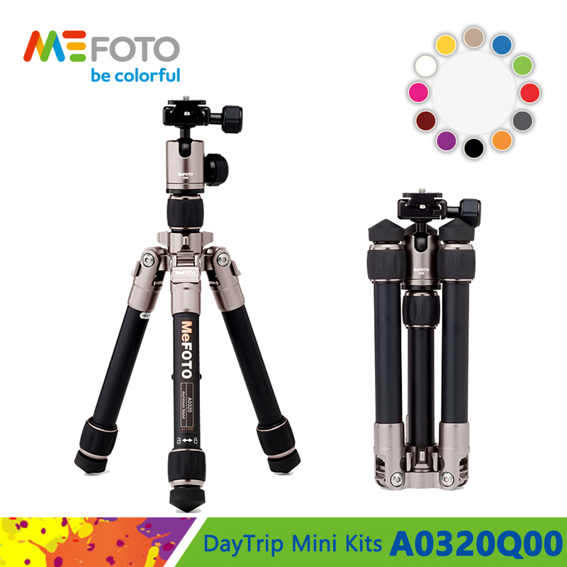 MeFOTO A0320 Aluminum Tripod Portable Tripods For Compact Camera Mirrorless System Camera 2 Section Max Loading