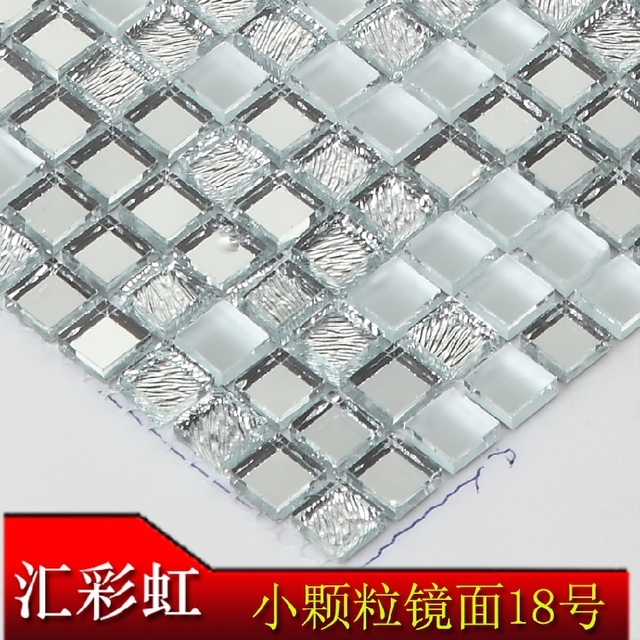 mirror glass mosaic tiles painted ceramic stone tv backdrop decorated restaurant cafe interior decoration jigsaw