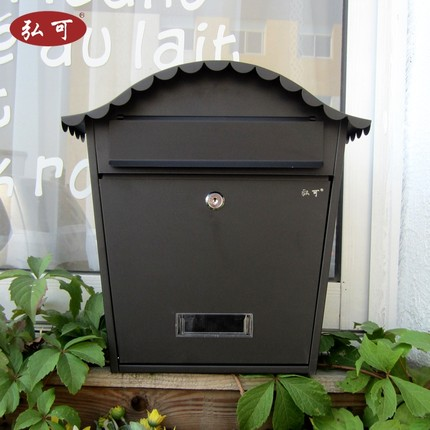 Villa Box Outdoor Mailboxes Ou Hang A Wall, Wrought Iron Creative Outdoor  Waterproof Lock Cabinet Wall Hanging Mailbox, Post Box In Mailboxes From  Home ...