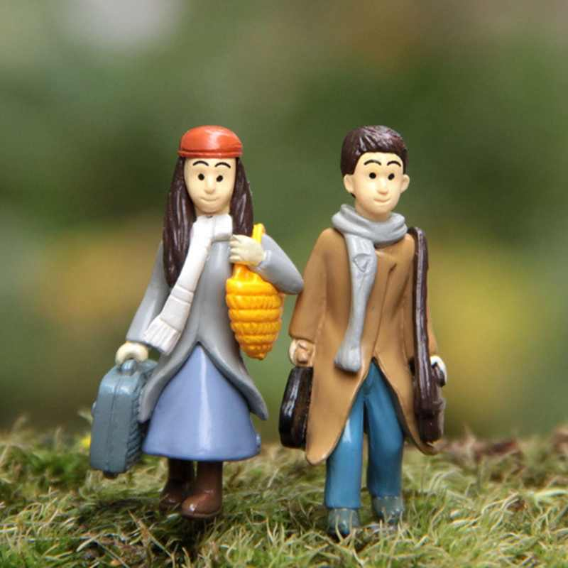 1PC Mini คู่ตุ๊กตา Fairy Garden Miniatures DIY Micro Landscape Decor ตุ๊กตา Action Figures Figurine Vintage Home Decor