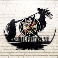 Final Fantasy VII Wanduhr Moderne Design für Wohnzimmer Antiken Stil Film Thema Uhren Wand Uhr Home Decor 12 inch Stille-in Wanduhren aus Heim und Garten bei