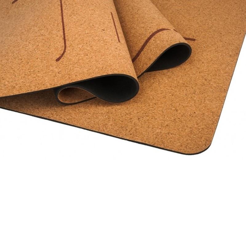 Natural Rubber/TPE And Cork Yoga Mat