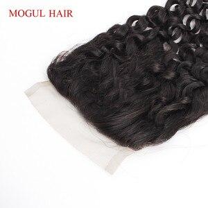 Image 4 - ブラジルジェリーカーリーブラジル髪4 × 4レース閉鎖手縛ら自然な黒ダークブラウン非レミー人間ヘアエクステンション
