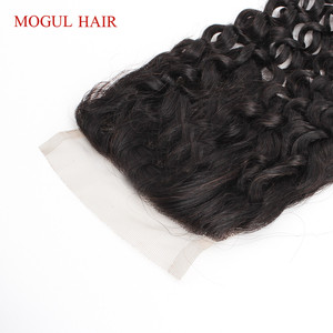 Image 4 - Brazilian Jerry Curly Brazilian Hair 4x4 Lace Closure Hand Tied Natural Black Dark Brown Non Remy Human Hair Extension