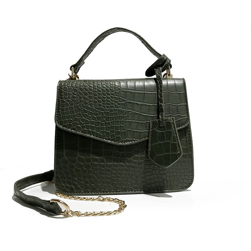2018 New European Female Bag All-match Crocodile Small Bag Tide Simple Handbag Shoulder Messenger Bag ,Vintage Crossbody bags