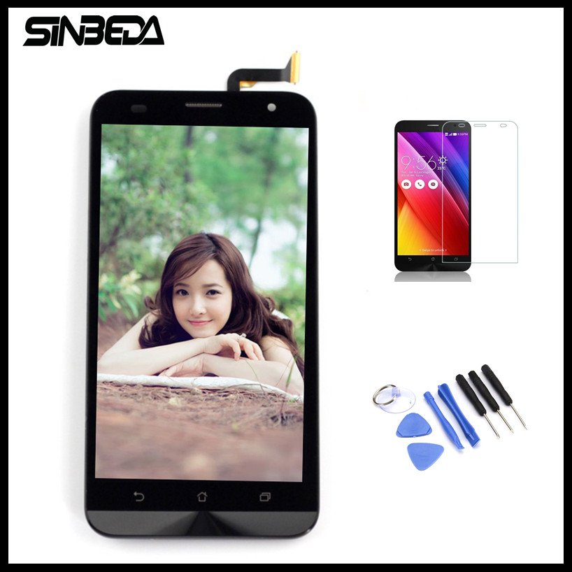 Sinbeda 5.5 Pantalla For ASUS Zenfone 2 laser ZE550KL LCD Screen Display Touch Screen Digitizer with Frame Assembly Replacement