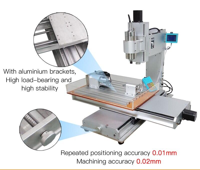 column type cnc 6040 2.2KW metal engraving machine   (9)