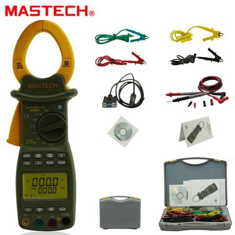 Mastech Monofásico Inteligente Multímetro Digital Poder Grampo Suporte Rs232 Ms2203 3