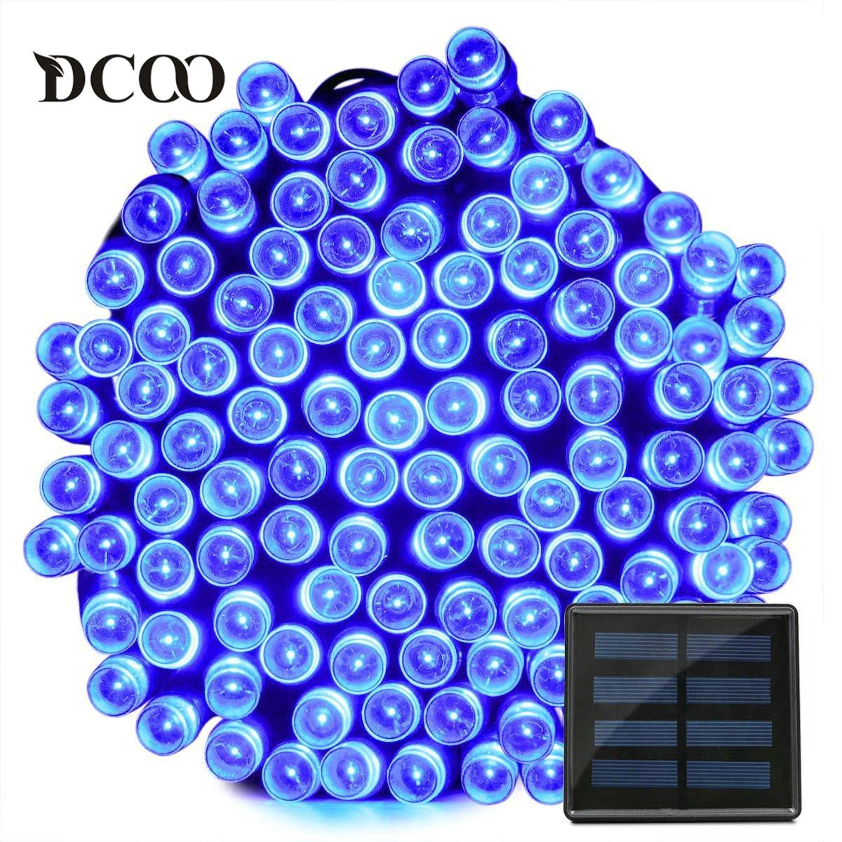 Dcoo Solar LED String Lights 200 LEDs 8 Modes 3 Colors 22meter Garden Lights Outdoor String