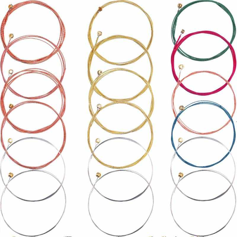 Acoustic Guitar Strings 6 pcs/set Steel Guitar Strings E-A Red Brass Rainbow Color Acoustic Folk Guitar Classic Guitar String