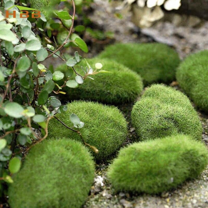 5pc Aquarium Decoration Green Artificial Moss Stone Fake Rock