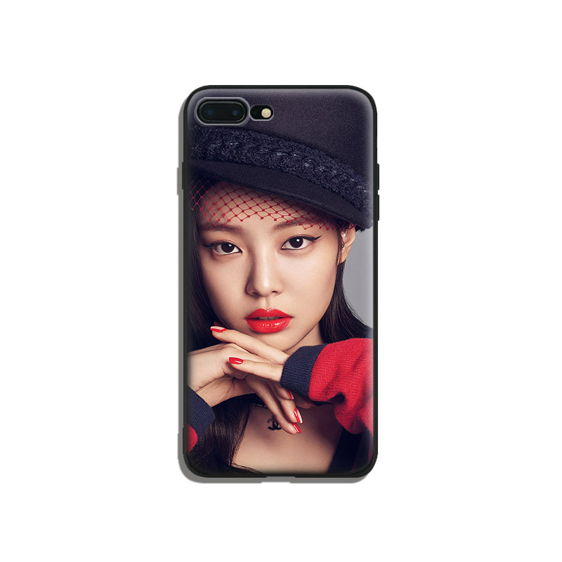 new style 48a32 54016 US $3.27 18% OFF|Jennie Kim kpop fashion coque Soft Silicone Phone Case  Cover Shell For Apple iPhone 5 5s Se 6 6s 7 8 Plus X XR XS MAX-in Fitted  Cases ...