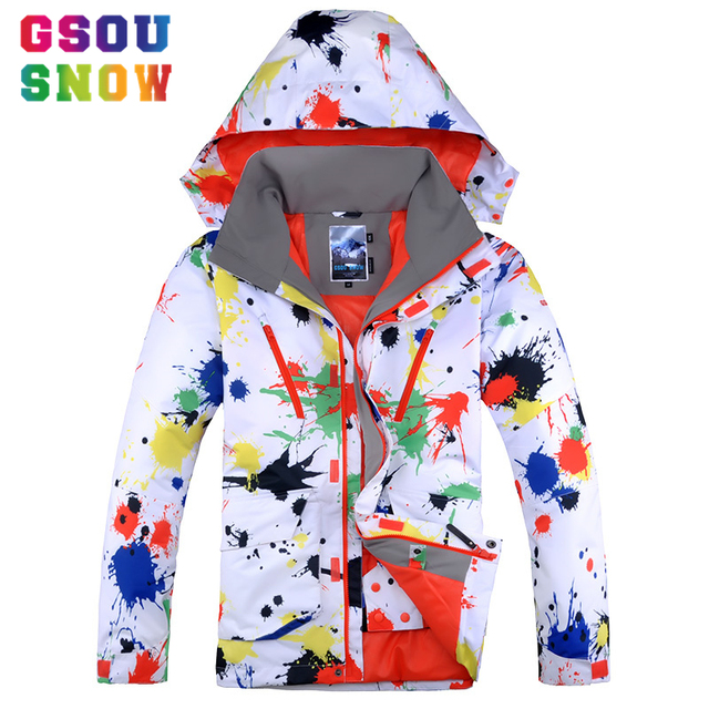 8d5f84be82 Gsou Snow Ski Jacket Men Winter Waterproof Windproof Snowboard Jackets  Graffiti Printed Sports Jackets Cheap Male Skiing Clothes