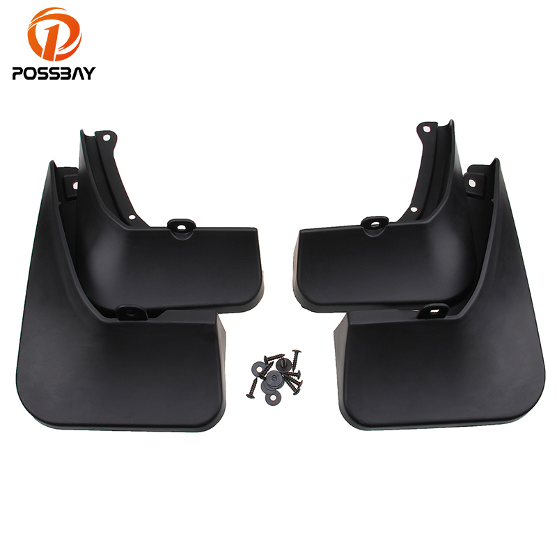 POSSBAY Mud Flaps Splash Guard Cover Mudguards Fenders Mudflap for 2015 Toyota Highlander Car Accessories