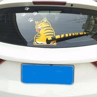 2017 funny creative cartoon cat decoration moving tail stickers auto vehicle window wiper decals car outside.jpg 200x200