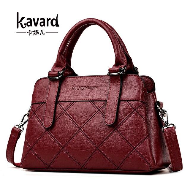 0d6c62065 Kavard lujo Plaid diseñador mano Bolsas cuero Bolsos de hombro Ladies  casual Tote SAC a main