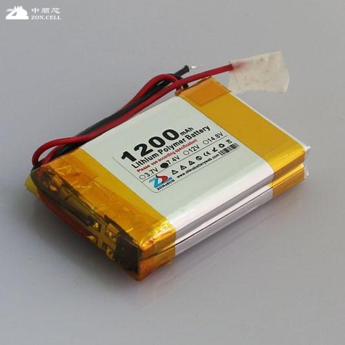 Nouveau chaud A dans le noyau 1200mAh 523450X2 103450 DVD interphone amplificateur 7.4V polymère lithium batterie groupe Rechargeable Li-ion cellule