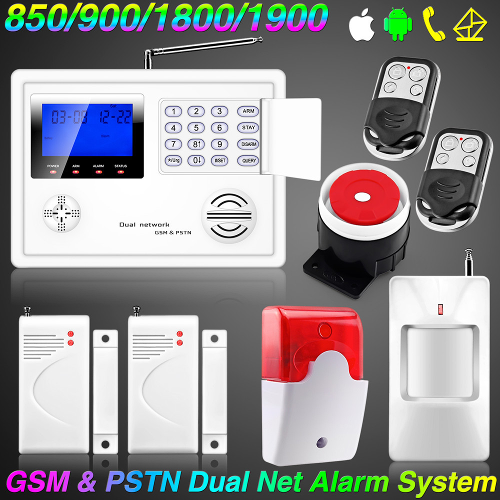 Wireless dual net home gsm pstn telephone security burglar for Smart home alarm system