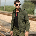 Casual Outdoors Men Jacket Mens Bomber Jackets Removeable Hoody Cargo Jacket Military Style Army Outerwear Brand A955