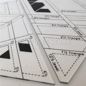 Image 3 - 2 Pcs DIY Patchwork Herrscher Kombination Erweiterte Acryl Patchwork Lineal Dicke 3mm Unterstützung Große Aufträge Schneider Lineal Stoff