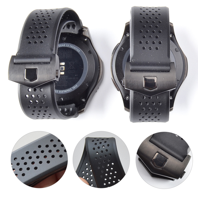 20Mm 22Mm Sport Rubber Silicone Voor Samsung Gear Galaxy S3 Frontier Klassieke Waterdichte Horloge Band Strap Gebogen End armband Man
