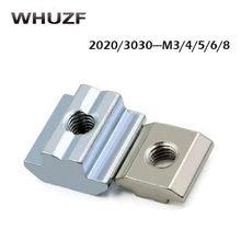 Бесплатная доставка 50 шт. оцинкованная пластина M3 M4 M5 M6 M8 T блок T скользящая гайка для алюминиевого профиля 2020 3030 4040 4545
