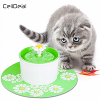 1.6L Automatic Electronic Pet Feeder Cat Dog Water Drinking Bowl Filter Pet Water Bottle Water Dispenser