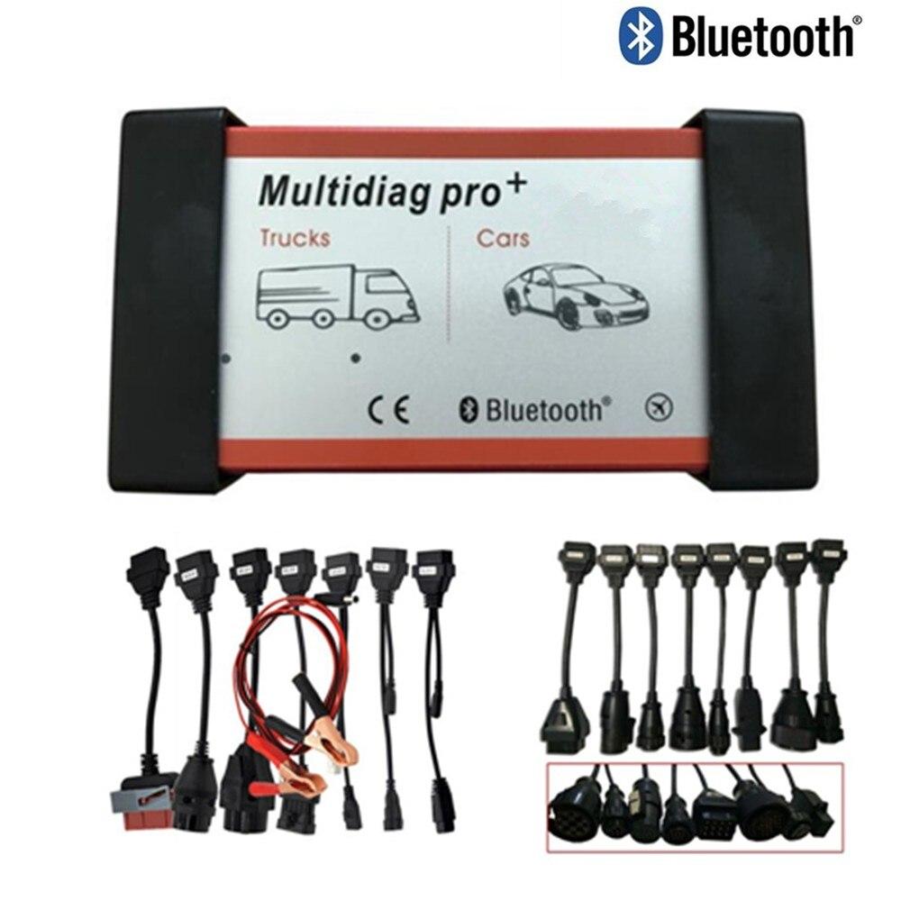 DHL Livraison Multidiag Pro 2015r3 outil De Diagnostic Bluetooth Ne Plus Voitures/Camions et obd OBD2 Scanner + voiture carbles + camion câbles