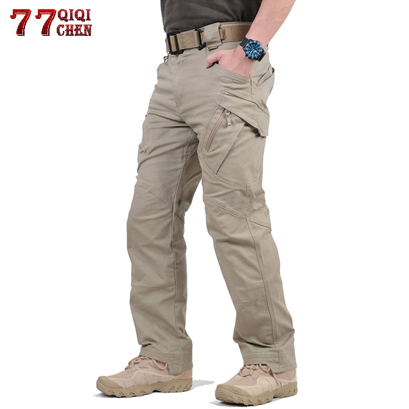 Pantalones Tacticos A Prueba De Agua Estilo Militar Pantalones Cargo Hombres Algodon Ix9 Multi Bolsillo Cremallera Pantalones De Combate De Talla Grande S 5xl Pantalones Tipo Cargo Aliexpress