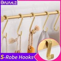 Robe Hook Brass Decorative Gold Coat Hooks Rack Hanger Single Bathroom Hook For Towels Hat Bag Clothes Rack Bathroom Accessories