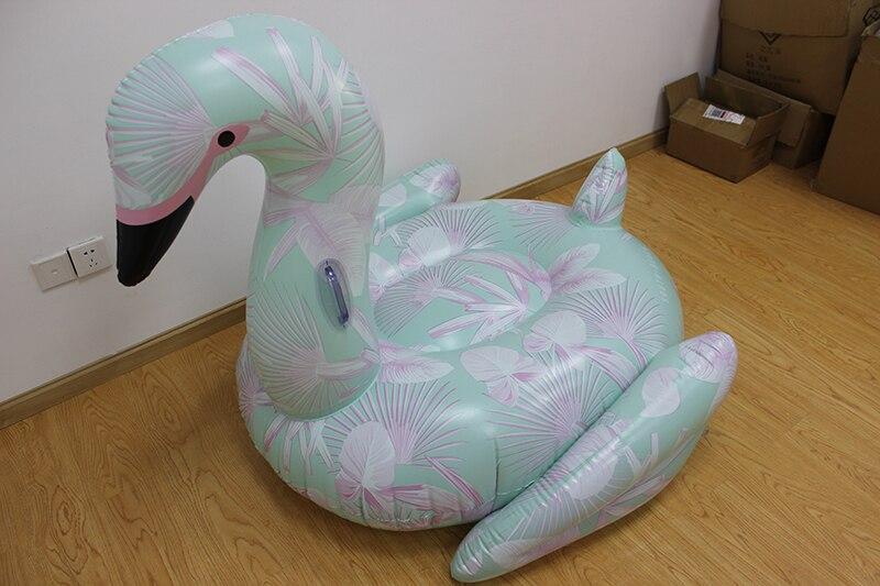 Floral Impressão Flamingo Brinquedos Piscina Flutuante para adultos