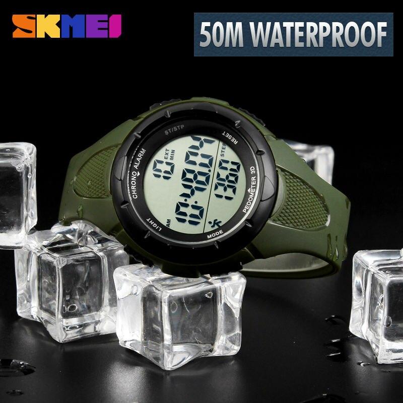 Digitale Uhren Skmei Outdoor Sport Uhr Männer Digitale Uhr 5bar Wasserdichte Multifunktions Kompass Mode Uhren Relogio Inteligente 1424