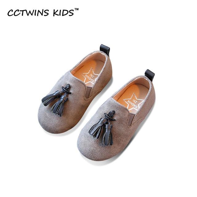 CCTWINS CRIANÇAS 2017 Primavera Borla plana Sapato Menina Crianças Mary Jane criança Do Miúdo de Moda Marca Deslizamento Plana Em Franja Loafer