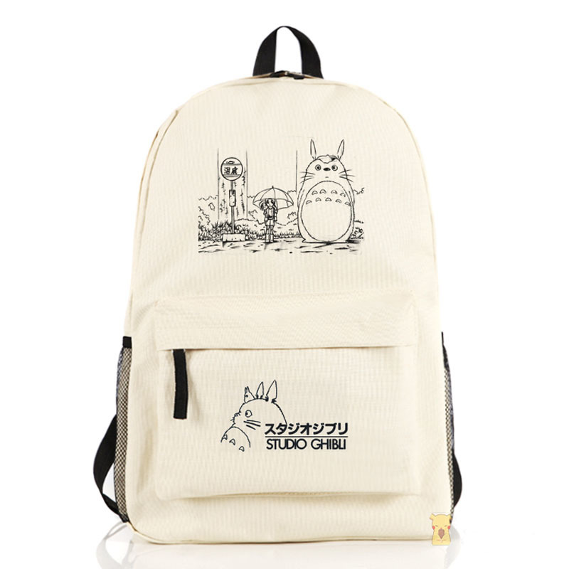 2017 New Japanese Anime Kawaii Tonari no Totoro Printing Backpacks for Teenage Girls Emoji Rucksack Canvas Children Backpack