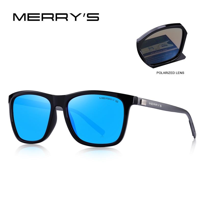 Image 3 - MERRYS DESIGN Men Women Classic Square Polarized Sunglasses Aluminum Legs Lighter Design UV400 Protection S8286-in Men's Sunglasses from Apparel Accessories