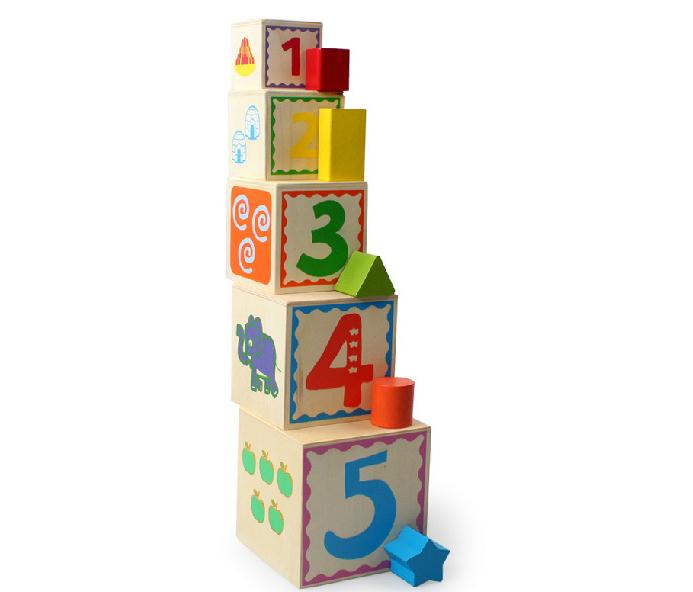 jessie's lovely store Baby Toys Nesting  Stacking Blocks - Numbers, Shapes, Colors Children Educational building blocks toy gift
