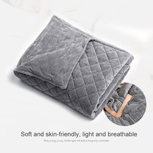 Adult Weighted Blanket Quilt Sleep Helper for Anxiety Insomnia Stress Set Bedspread Plush Cover for Bed Sofa Warm-1-1.85kg(China)