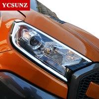 2016 2018 DRL LED Daytime Headlights Cover For Ford Ranger T7 2016 Accessories For Ford Ranger