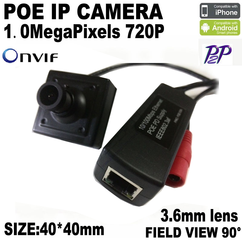 P2P Mini POE IP Camera 720P Securiy HD Network CCTV Camera 1Mega Pixel Indoor Network IP Camera POE ONVIF H.264 Surveillance