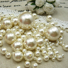 2019 DIY AAAAA 3-30mm Ivory Imitation Pearl Beads Acrylic Smooth Round Ball Spacer Beads For Jewelry Making Necklace & Bracelet