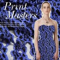 New stretch mesh lace fashion jacquard brocade fabric High grade blue enchantress lace jacquard fabric dress brocade