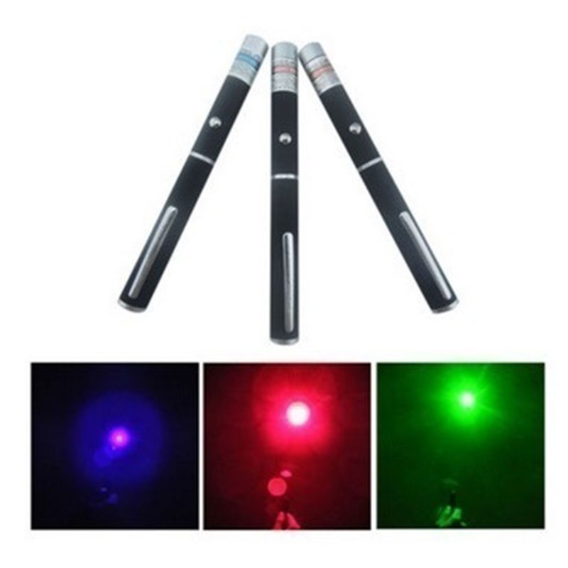 2019 Wholesale Pocket Green/Red/Blue Laser Pointer Pen Beam Light Lamp Lazer Self Defense Flashlight Safety Security EDC Tools