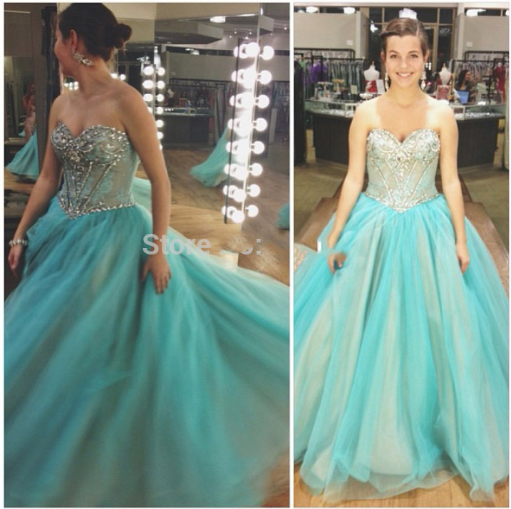 Aliexpress.com : Buy Mint Green Prom Dresses 2016 Ball Gowns Lace ...
