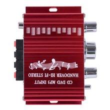 20 W Rojo de Alta Fidelidad Mini Motocicleta Auto Del Coche Del Amplificador de Potencia Estéreo amplificador Digital de Sonido Modo de Soporte DVD de Audio MP3 para casa
