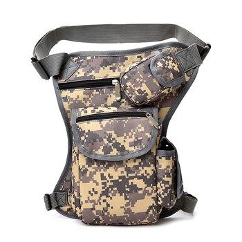2018 Men Canvas drop waist bags Leg pack bag Men belt bicycle and motorcycle Money Belt Fanny pack For Work Black High Quality