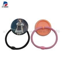 500 наборов 37 мм Резиновая лента волосы кнопки детали для значков Пустой материал