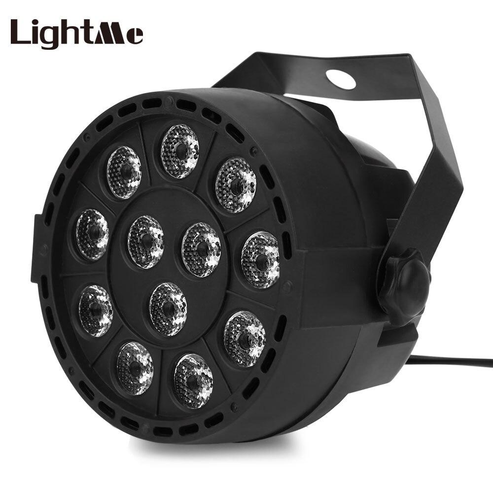 Lightme Professionnel Stage de Lumière Projecteur 12 Led RGBW Couleur De Mélange Par Lampe 8CH Voix Activé DJ Lampe Partie KTV Concert ligh