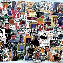 100pcs Friends tv show portrait anime fans decals scrapbooking diy stickers decoration phone waterproof cartoon accessories