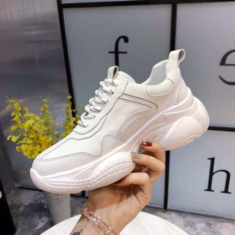 Fast delivery 2019 four seasons round toe women sneakers genuine leather comfortable cross tied women shoes n-in Women's Flats from Shoes    3