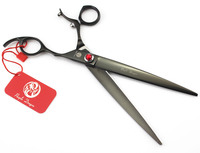 8 0 Inch Black Zi Upscale Pet Grooming Scissors Turn The Shears Handle Color Cosmetic Package